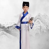 六一儿童古装弟子规国学服幼儿汉服表演服男女童三字经书童演出服