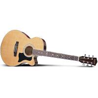 Saysn思雅晨民谣吉他40寸木吉它初学新手入门jita乐器吉他40NC套装