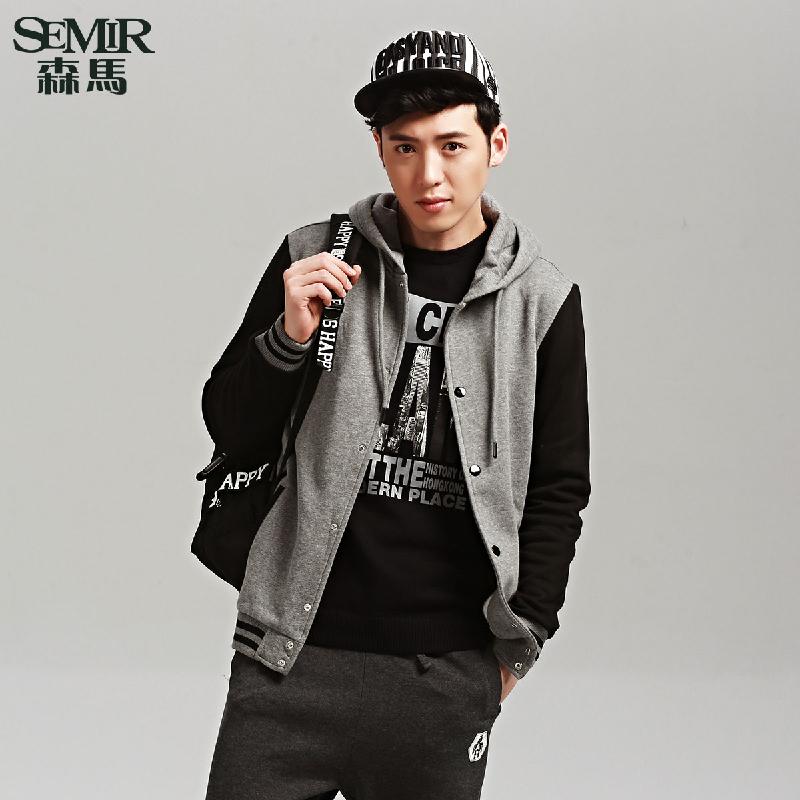 男士合体针织外套运动休闲男装韩版图片