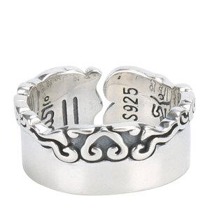 戴和美珠宝首饰戒指 S925银戒指六字箴言戒指指环