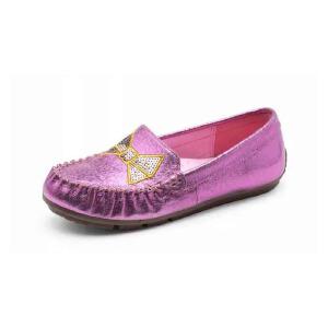 鞋柜/SHOEBOX儿童鞋女童浅口单鞋春秋款休闲低帮公主鞋船鞋