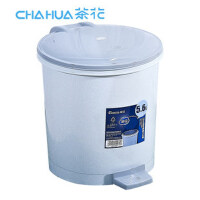 茶花垃圾桶 塑料桶 废纸桶 菜剩桶 厨房垃圾桶 脚踏卫生桶(颜色随机)