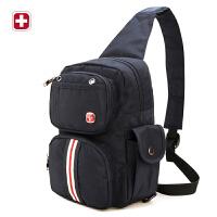 瑞士军刀休闲运动胸包多功能大容量背包单肩包斜挎包男包SA9605