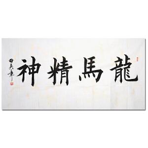 附合影 中国现代硬笔书法研究会会长 田英章【龙马精神】Z2903