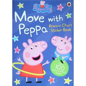 英文原版 小猪佩佩奇 peppa pig move with peppa 粉红猪小妹佩琪