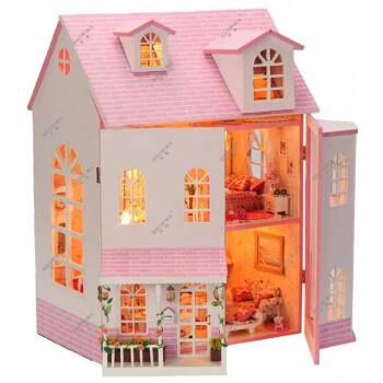diy小屋公主房手工超豪华木质拼装别墅小房子模型屋