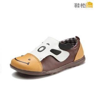 鞋柜 春秋可爱动物图案男童鞋PU鞋面透气安脚橡胶鞋底耐磨耐穿