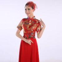 新款中国风大合唱服演出服民乐古筝古典舞伴舞服装舞蹈长裙女