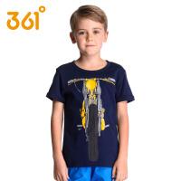 361度童装 男童t恤短袖中大童儿童夏装纯棉圆领卡通T恤