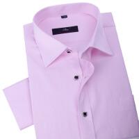 秋冬新款男式长袖衬衫韩版修身男衬衫粉色百搭时尚休闲衬衫男士正装西装衬衫