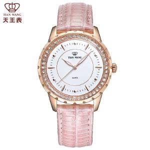 天王表女士手表时装皮带手表休闲时尚石英女表LS3795