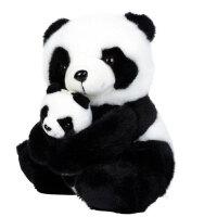 凯弘 生日礼物送女友老婆爱人朋友孩子创意礼品母子熊猫毛绒公仔28cm