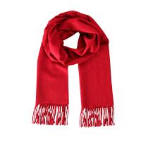 上海故事女士男士纯色羊绒围巾披肩围脖加厚时尚百搭秋冬长新款夏季空调围巾