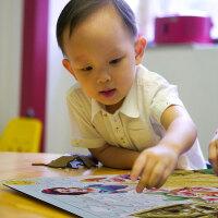 新款80片拼图玩具儿童益智拼图木制木质儿童小孩拼图玩具 朵拉熊出没喜羊羊海绵宝宝