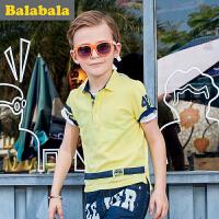 巴拉巴拉男童短袖t恤POLO衫中大童上衣童装夏儿童体恤男