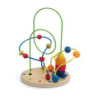 Hape 火箭基地 2岁以上 儿童益智启蒙玩具 串珠绕珠 E1806
