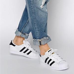 Adidas/阿迪达斯三叶草经典贝壳头休闲运动板鞋C77154