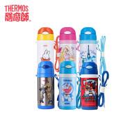 THERMOS/膳魔师不锈钢儿童保温杯卡通吸管杯斜跨杯送吸管FEQ-400