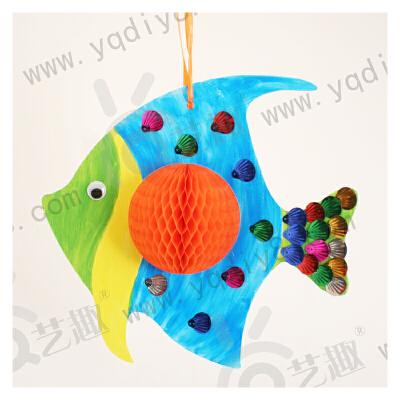 节礼物/品3d蜂窝挂饰幼儿园手工制作材料包儿童diy自制送妈妈_小鱼