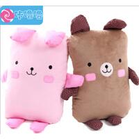 咔噜噜 布布熊情侣靠垫 布娃娃 毛绒玩具 抱抱熊 情人节礼物