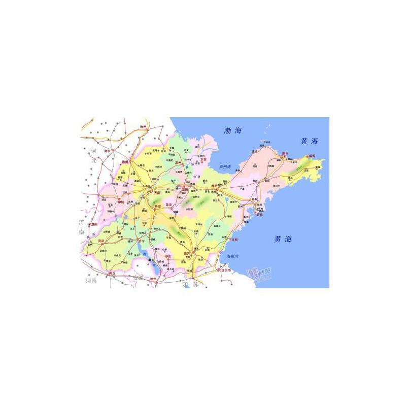 山东省地图(1:600000) 申怡 正版书籍