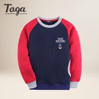 【满200-100】TAGA 2017冬装新款童装男童T恤卫衣中大童学生儿童上衣