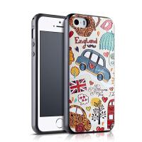 景为 iphone5s手机壳苹果5硅胶防摔软胶套se卡通ipone全包潮男女i