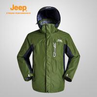 Jeep/吉普 男士三合一冲锋衣户外登山服保暖休闲外套J652010675