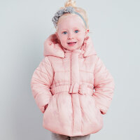 davebella戴维贝拉女童冬装新款加厚棉衣 宝宝保暖棉服26081