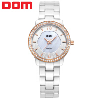 多姆(DOM)手表 联保 新款 腕表 时尚陶瓷女表 防水 女士手表 T-558