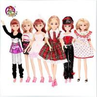 全店满99包邮!乐吉儿梦幻公主布洋芭比娃娃套装礼盒正品2014女孩公仔