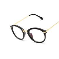 潮人炫彩精工高端简约时尚商务超轻平光变色潮流男女士眼镜框配镜防蓝光复古眼镜架户外配饰