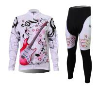 XINTOWN吉它女款骑行服长袖套装自行车服春秋季吸湿排汗速干衣