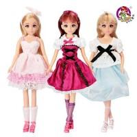 乐儿 Lelia 梦幻系列 家庭组合装 化妆 公主 芭比娃娃 套装礼盒 女孩过家家 六一儿童节礼物L8889A-B-C款式*发货
