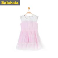 巴拉巴拉女童连衣裙中大童公主裙夏季童装裙子儿童淑女裙