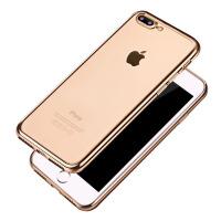 电镀边框超薄TPU6s硅胶软壳 iPhone7plus手机壳苹果7透明套7P硅胶防摔软壳电镀 适合于iphone6s/plus iphone7/iphone plus 手机壳
