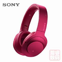 Sony/索尼 MDR-100ABN 头戴式立体声无线蓝牙降噪耳机 波尔多红
