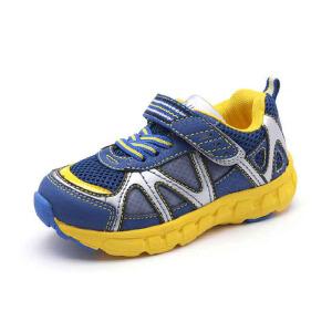 Shoebox/鞋柜秋冬新款魔术贴男童鞋 网布透气跑步鞋休闲鞋