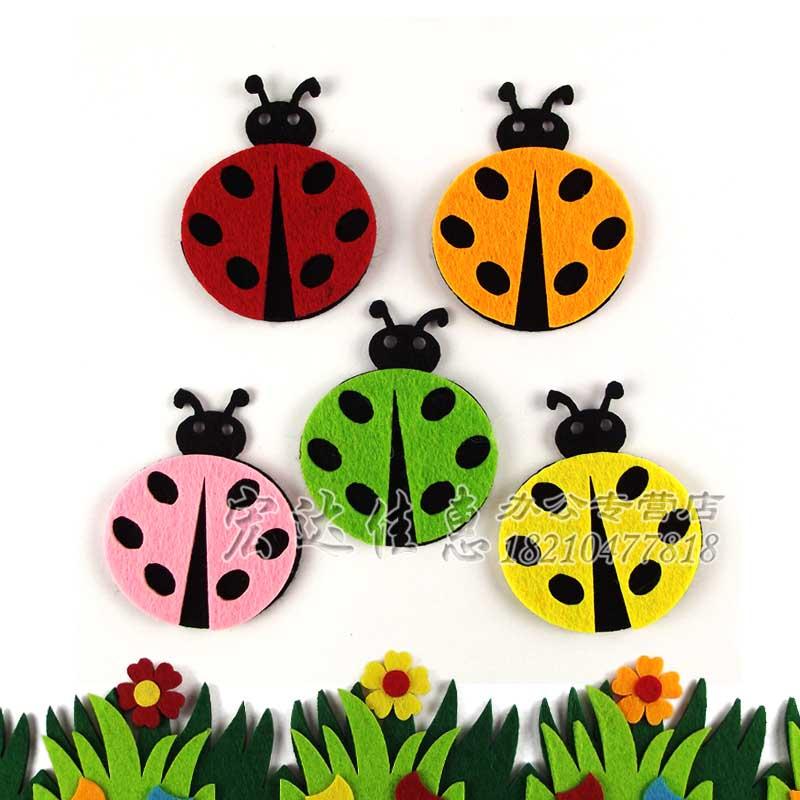 立体墙贴可移除学校班级设计手工装饰_七星瓢虫 一包5个