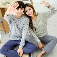 雪俐情侣睡衣秋季韩版家居服男士女士长袖可外穿套装