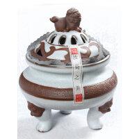尚帝 汝窑开片香薰炉 陶瓷熏香炉 盘香座 线香座 多款可选特价qyt512
