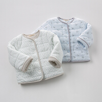 davebella戴维贝拉男童秋装新款棉衣 宝宝保暖棉内胆上衣
