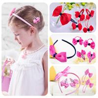 新品上市儿童发饰套装韩国饰品 发绳头箍发箍发夹 甜美蝴蝶结礼物