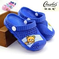 新款夏季可爱小熊儿童包头凉拖鞋 女童家居男童防滑宝宝学步鞋