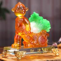 生肖猴子摆件生日贺寿礼品定制纪念品 猴年吉祥工艺品财运到