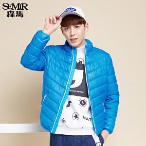 森马棉衣 冬装 男士休闲立领合体加厚保暖短外套韩版潮流