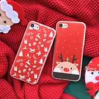 红色圣诞节苹果7plus手机壳iPhone6/6s PLUS全包保护套7代套壳新款iphone7plus手机壳软硅胶iphone6s plus全包卡通猫7plus手机壳软硅胶