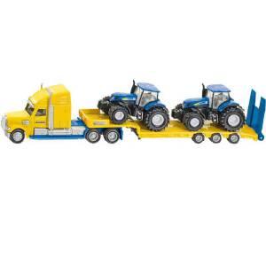 [当当自营]siku 德国仕高 1:87 带新荷兰拖拉机的卡车 合金车模玩具 U1805