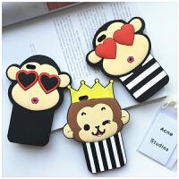 韩国iphone6s手机壳5.5苹果6plus情侣皇冠爱心猴4.7硅胶套