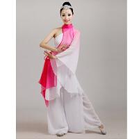 古典舞演出服新款中老年民族扇子舞舞蹈练功服服装表演服女夏